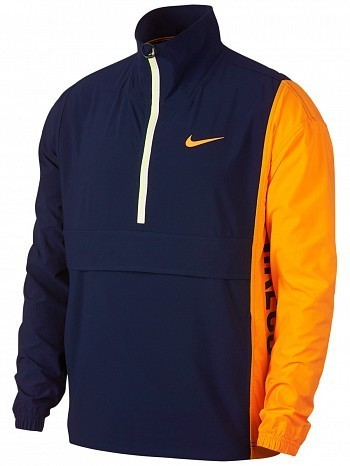 Nike ATP Pro Player Wimbledon Open Men's Court Stadium Woven Tennis Jacket Blue