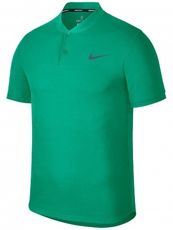 Nike ATP Pro Player Master Tour Men's Court Solid Dry Advantage Tennis Henley Polo Shirt Green
