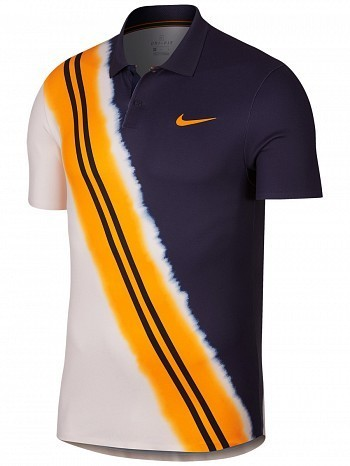 Nike ATP Pro Player US Open Men's Court Advantage Classic Tennis Polo Shirt Blue