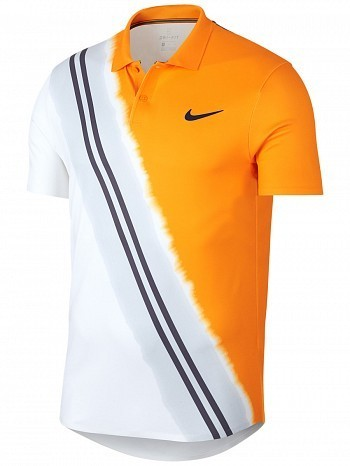 Nike ATP Pro Player US Open Men's Court Advantage Classic Tennis Polo Shirt Orange