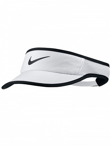 Nike WTA Tour Pro Player Women's FeatherLight Aerobill Tennis Visor White