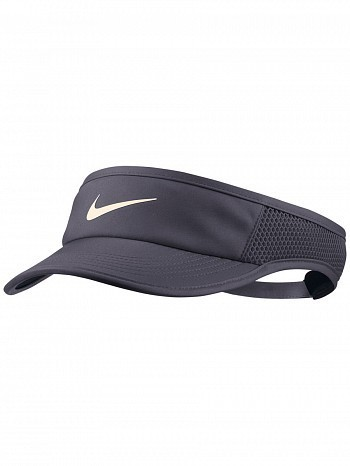 Nike WTA Tour Pro Player Women's FeatherLight Aerobill Tennis Visor Grey