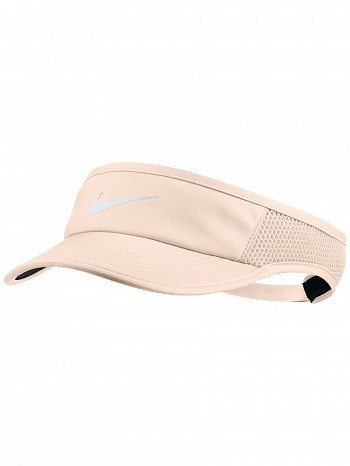 Nike WTA Tour Pro Player Women's FeatherLight Aerobill Tennis Visor Peach
