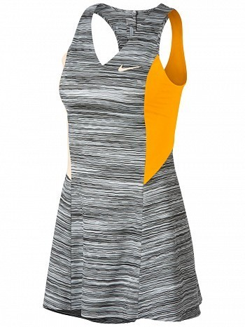 Nike Maria Sharapova 2018 US Open Court Dri-Fit Tennis Dress Grey / Orange