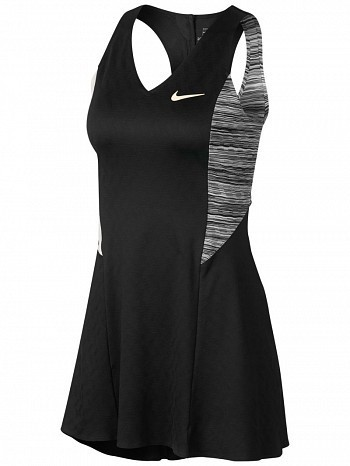 Nike Maria Sharapova 2018 US Open Court Dri-Fit Tennis Dress Black