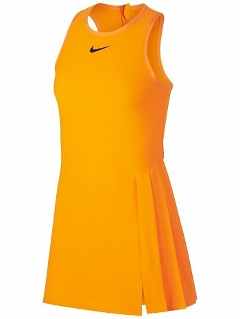 Nike Pro Player WTA Tour Women's Court Slam Tennis Dress Orange