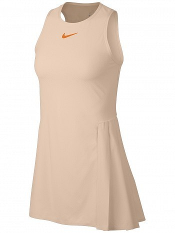 Nike Pro Player WTA Tour Women's Court Slam Tennis Dress Peach