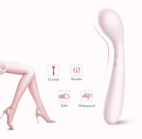 Designer Dual End Body-Relaxing Mini Vibrator Wand Body Massager Reachargeable & Waterproof