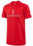 Nike Roger Federer RF Foundation Pro Center Logo Tennis Crew Top Tee Shirt, Red