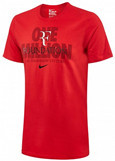 Nike Roger Federer RF Foundation One Million Logo Tennis Crew Top Tee Shirt, Red
